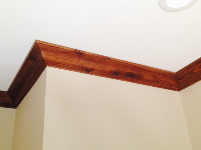 Rustic Hickory Crown Molding