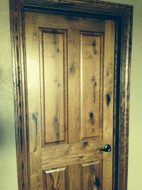 Prefinish Rustic Hickory Door & Custom Hickory Molding